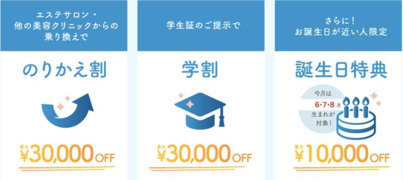 TCB東京中央美容外科のキャンペーン情報