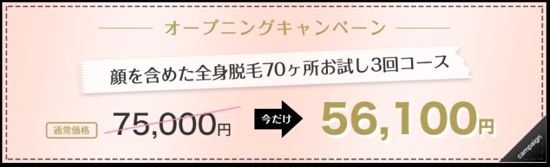 ・お試し3回コース 75,000円→56,100円